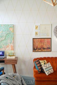 DIY Wallpaper Tutorial @ Vintage Revivals-1