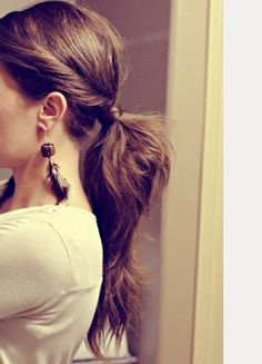 Classic ponytail but adding a little twist.