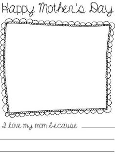 Adventures in Kindergarten: Mothers Day Freebie-An easy writing and coloring activity for new writers