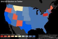 Obama vs. Romney scale (Twitter map)