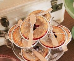 What could be sweeter then offering guests miniature heart cut-out pies ?