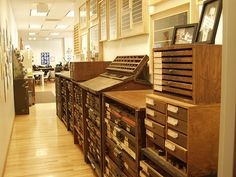 More wonderful wooden flat files and drawers.
