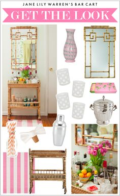Get the Look: Jane Lilly Warren's chic bar cart in Matchbook Mag