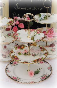 Lovely cake stand made from vintage china