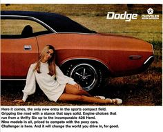 '70 Dodge Challenger ad