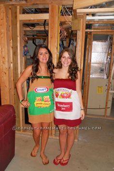 holiday, fashion thing, jordan, coupl costum, couple costumes, fun homemad, halloween costum, homemad peanut, homemade peanut butter
