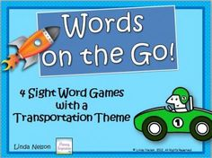 Sight Word Games ~ Words on the Go! from Linda Nelson on TeachersNotebook.com -  (34 pages)  - Get sight word knowledge rolling in your classroom with this set of 177 word cards and four games!