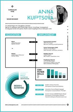 Cool infographic designed resume