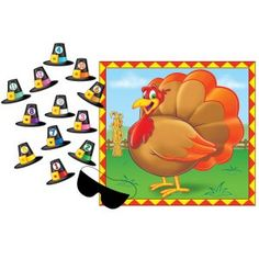 Pin the Hat on the Turkey Game {DIY this}