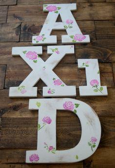 Wooden Alpha Xi Delta Serif IttXi Letters.