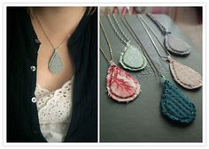 DIY: fabric pendant necklace