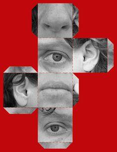 cubism - self-portrait - template - great idea!