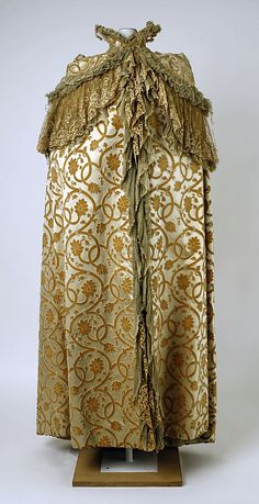 Opera cape House of Worth  Date: ca. 1899 Culture: French Medium: silk Accession Number: 35.134.19