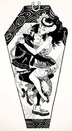 Psychobilly love.