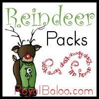 Reindeer Printable Pack