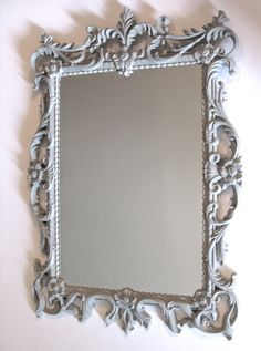 Vintage mirror painted with ASCP french linen