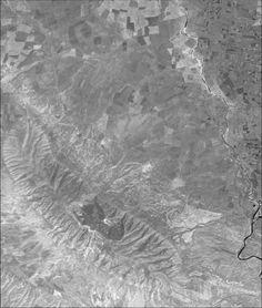 Llanura de Gaugamela - Vista de satélite Escenario de la batalla entre Alexander III el grande y Dario II de Persia.