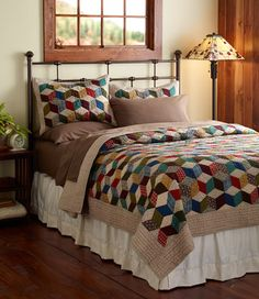 Cool, geometric quilt from LL Bean.
