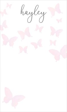 Personalized Butterflies Jotter Cards