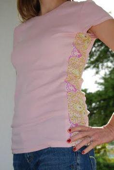 Side panel shirt refashion