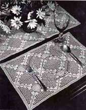 Placemats & Runner Number 7712 Free Crochet Pattern