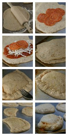 Pepperoni Calzones with homemade pizza dough | 5DollarDinners.com
