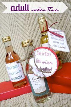 3 cheesy valentine sayings with wine!