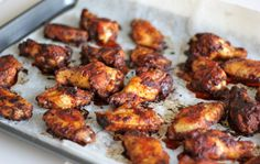 Damn Delicious, Baked Brown Sugar Chicken Wings with Roasted Red Pepper Cream Sauce