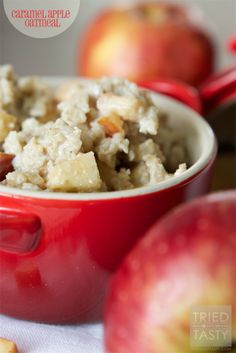 Caramel Apple Oatmeal // Tried and Tasty