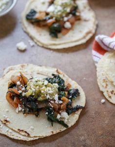 Swiss Chard & Onion Tacos