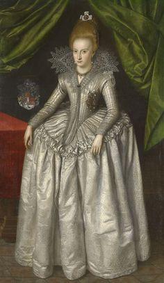 """Princess Elizabeth of Brunswick-Wolfenbuttel (1593-1650), later Duchess of Saxe-Altenberg"", atr. Jacob van Doort, 1609; Royal Collection Trust 404963"