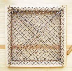 Square Pin Loom Speed Weaving - Tutorial