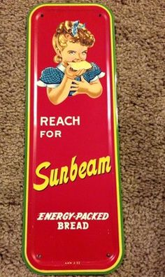 Vintage 1950's Sunbeam door push/handle