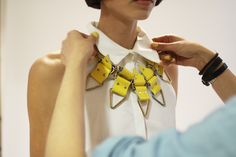 Statement necklace = Wow factor.
