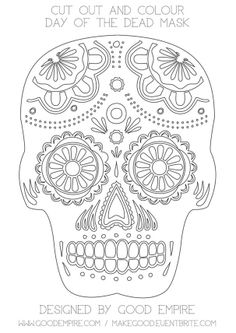 stencil day of the dead 1 1