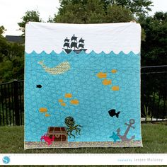 Tutorial | Curious Sea Creatures Appliqued Quilt by Jessee M for Silhouette America