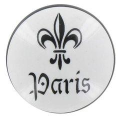 Black & White Fleur-De-Lis Paris Ceramic Knob   Shop Hobby Lobby