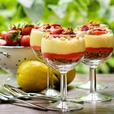 Lemon and Strawberry Parfaits