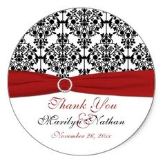 Red, White, and Black Damask 3