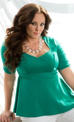 Posh Peplum Top Emerald Green #plus #size #plussize #plus_size #curvy #fashion #clothes Shop www.curvaliciousclothes.com TAKE 15% OFF EVERYTHING! Use code: TAKE15 at checkout