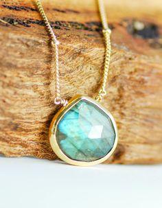 Alohanani necklace - labradorite gold necklace, 14kt gold filled necklace, delicate gold necklace, hawaii bridesmaid, wedding necklace, maui...