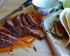 Steak Fajitas: excellent instructions and the steak is SO tender with this dry rub grilling method. Great combo of sweet/spicy/smokey flavors that compliment the avocado and sour cream side. We doubled up on the peppers and onion, added 1/2 teaspoon chili pepper and ground cumin, 2 Tbsp fresh oregano  and  a drizzle of olive oil and cooked them in a pan  indirectly on the grill. Great for a crowd. 10/10