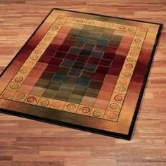 Montage Lodge Color Block Contemporary Transitional Area Rug