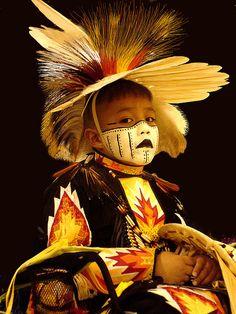 Young dancer in pow wow regalia - Nihihiro  Shihiro