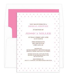 Pink Pin Dot Invitat