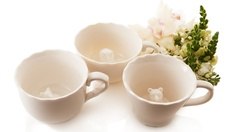 Hidden Animal Teacups >> $ 20, I think these are just wonderful!