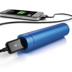 Carry an extra charge in your pocket with this small mobile phone charger.