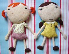 felt twins - these are too funny... felt #dolls