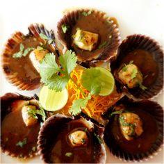 Food: good eats: conchitas in Lima Peru Sea scallops in beef broth. Omg...