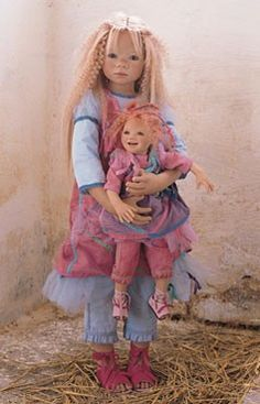 Annette Himstedt dolls, Himstedt Kinder dolls, Collectible porcelain ...